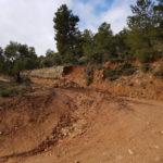 Ook de toegangsweg vanaf Arnes is niet meer begaanbaar