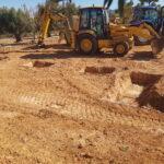Uitgraven van de zapatas